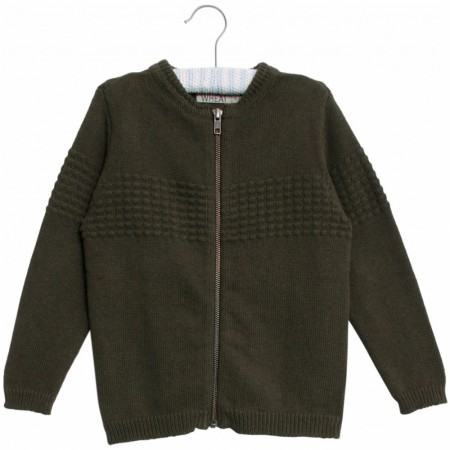 Wheat - Sailor cardigan, army melange